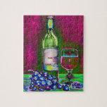 Rompecabezas del vino y de las uvas del arte moder