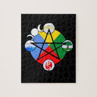 Rompecabezas elemental del Pentagram