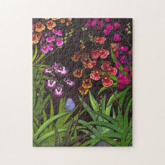Rompecabezas equitante de las orquídeas de Tolumni