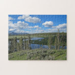 Rompecabezas escénico tranquilo del río Yellowston