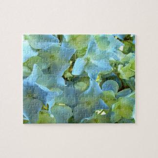 Rompecabezas floral del Hydrangea azul claro peque