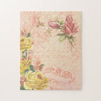 Rompecabezas floral del vintage elegante