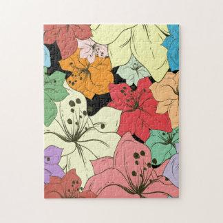 Rompecabezas floral tropical
