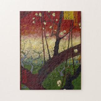 Rompecabezas floreciente del árbol de ciruelo