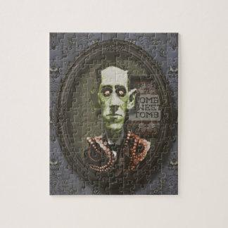 Rompecabezas frecuentado de HP Lovecraft del zombi