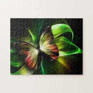 Rompecabezas geométrico de la mariposa