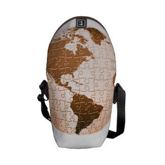 Rompecabezas global bolsas de mensajeria
