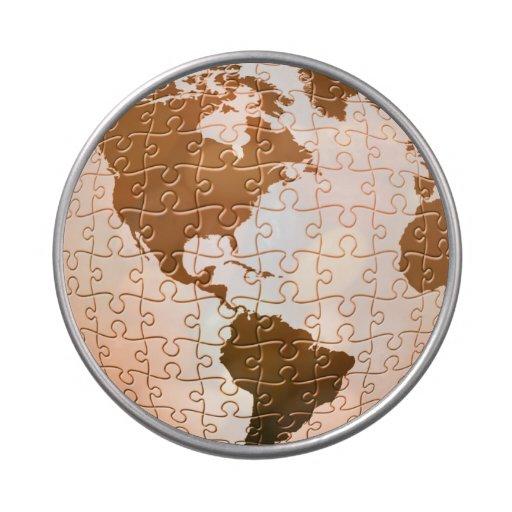 Rompecabezas global jarrones de caramelos