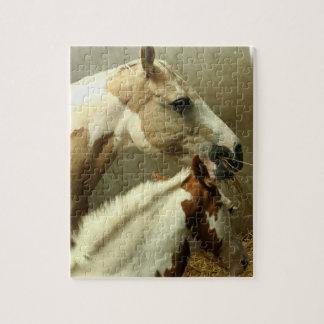 Rompecabezas gris del caballo de Eventing