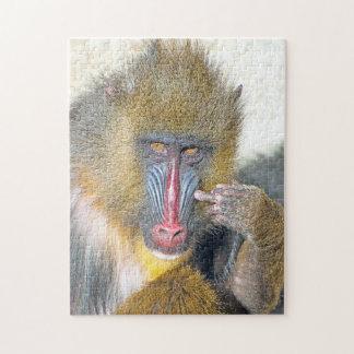 Rompecabezas gruñón     de la foto del mono 11x14
