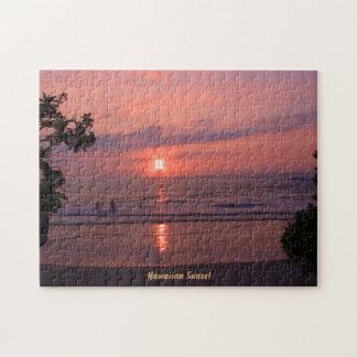 Rompecabezas hawaiano de la puesta del sol