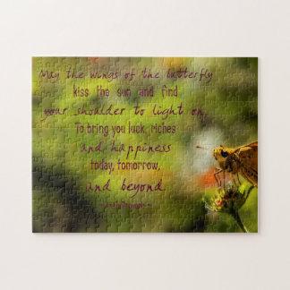 Rompecabezas irlandés de la mariposa del proverbio