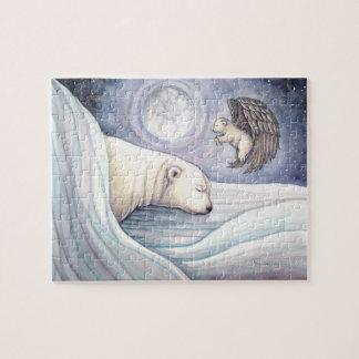 Rompecabezas lindo de Cub del oso polar y del