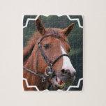 Rompecabezas lindo del caballo de la castaña