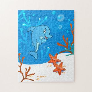 Rompecabezas lindo del océano del delfín