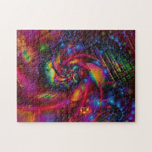 Rompecabezas loco del fractal de los colores