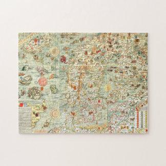 Rompecabezas medieval del mapa de Europa