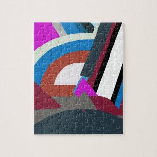 Rompecabezas moderno elegante del arte abstracto