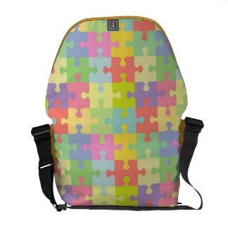 Rompecabezas multicolor del bolso de la conciencia bolsas de mensajeria