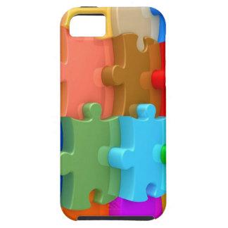 Rompecabezas multicolor del caso 3D de la concienc iPhone 5 Protectores