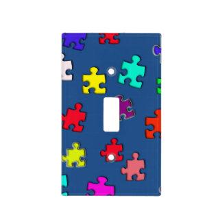 Rompecabezas multicolores cubiertas para interruptor
