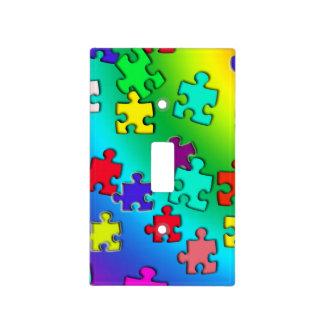 Rompecabezas multicolores placas para interruptor