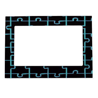 Rompecabezas negro marcos magnéticos