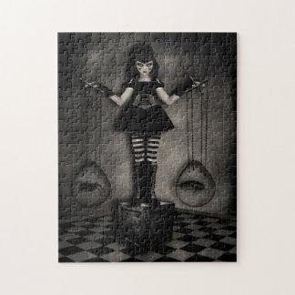 Rompecabezas oscuro gótico de la muñeca