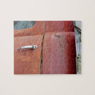 Rompecabezas oxidado de la foto del camión del