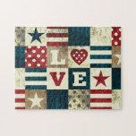 Rompecabezas patriótico de América del amor