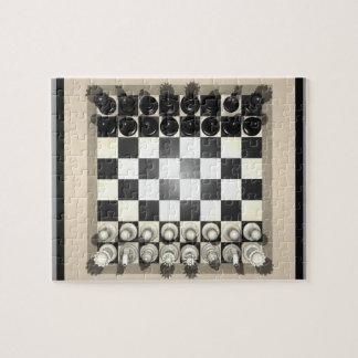 Rompecabezas: Pedazos del tablero de ajedrez y de  Puzzles