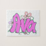 """Rompecabezas personalizado de """"Ava"""" para los niños"""