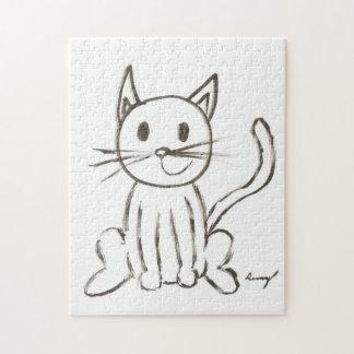 Rompecabezas pintado del gatito