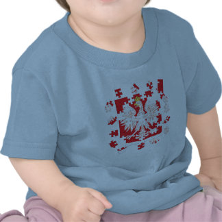 Rompecabezas polaco de la herencia camisetas