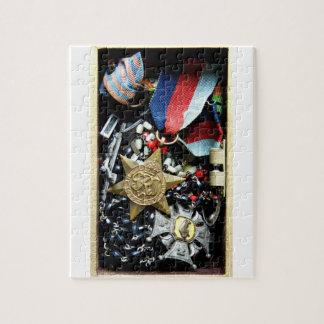 Rompecabezas polaco de la medalla del veterano de