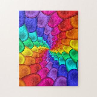 Rompecabezas psicodélico del espiral del arco iris