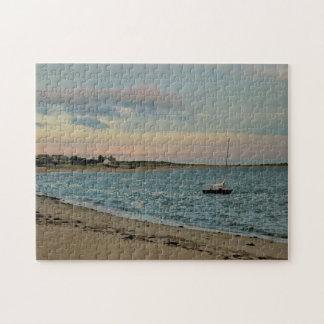 Rompecabezas - puesta del sol, playa de la ensenad