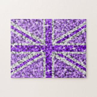 Rompecabezas púrpura BRITÁNICO de la mirada de la