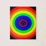 Rompecabezas redondo del arco iris de las lesbiana