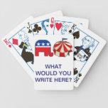 Rompecabezas republicano de la palabra del circo cartas de juego