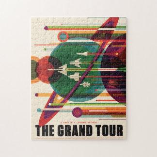 Rompecabezas retro del poster del viaje de la NASA