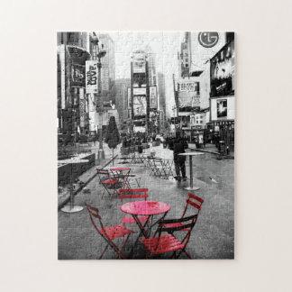 Rompecabezas rojo blanco negro del Times Square