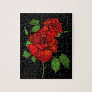Rompecabezas rojo color de rosa