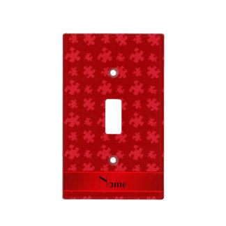 Rompecabezas rojo conocido personalizado cubiertas para interruptor