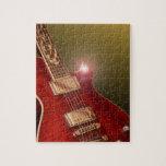 rompecabezas rojo de la guitarra