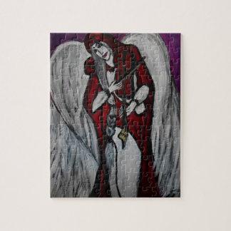 Rompecabezas rojo del ángel