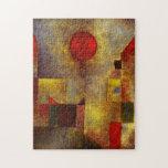 Rompecabezas rojo del globo de Paul Klee