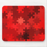 rompecabezas rojo tapete de ratón