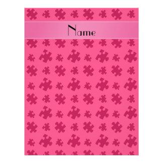 Rompecabezas rosado conocido personalizado membrete