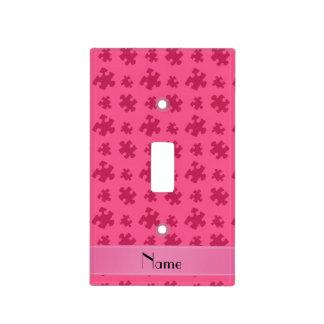 Rompecabezas rosado conocido personalizado placas para interruptor